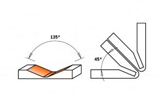 Etalon - Frez do cięcia materiałów kompozytowych 135°